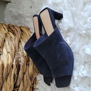 Zara woman dark blue sandals